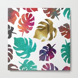 Kiss of Gold, cool calming colors to  change any mood. Metal Print
