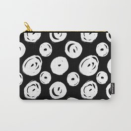 White Swirls Abstract Pattern Carry-All Pouch