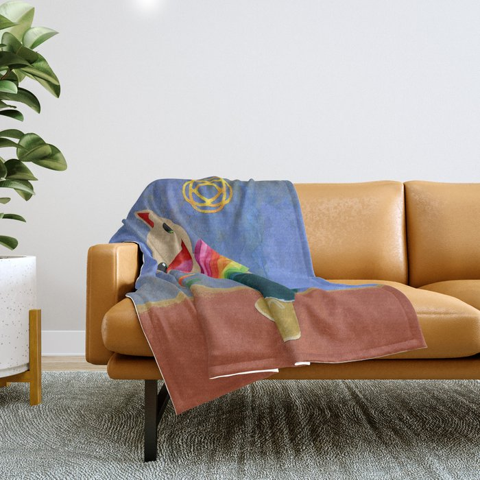 happiness spores Throw Blanket
