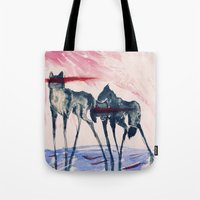 ford Tote Bags featuring Ford by DogoD Art
