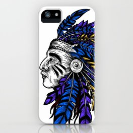 American Native Chieftain Head iPhone Case