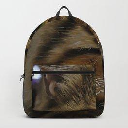 Aslan The Long Haired Tabby Cat Backpack