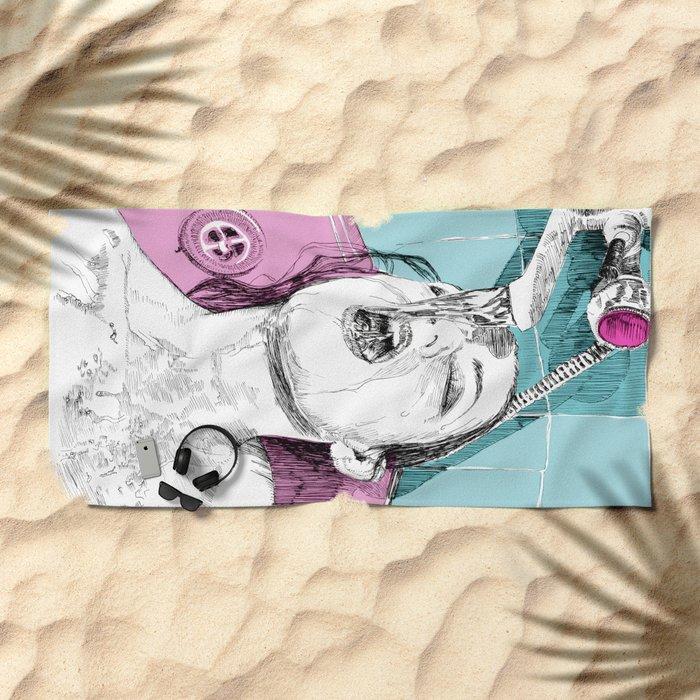 Show Time Beach Towel