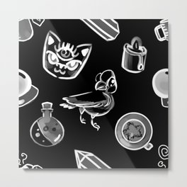Cute Witchery Metal Print