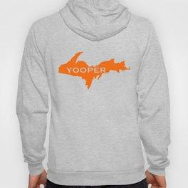 Yooper Hunter Blaze Orange Michigan UP design Hoody