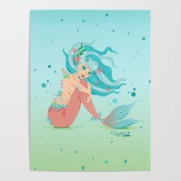 Monster Mermaid Pin-Up Poster
