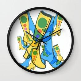 Gogo Boots Everywhere Dancing the Night Away Wall Clock