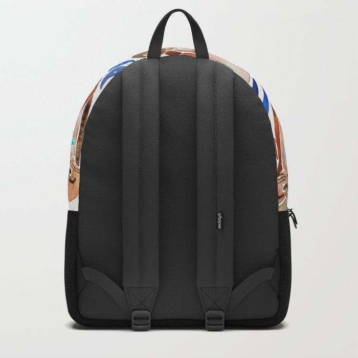 Five Otters – Blue Palette Backpack