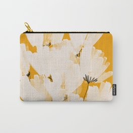 Flowers In Tangerine Carry-All Pouch