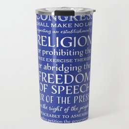 First Amendment Rights Travel Mug