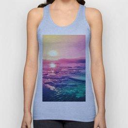 Pastel Sunset Waters Unisex Tank Top