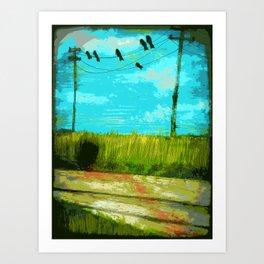 Six Crows Art Print