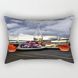 Rosé in the Storm Rectangular Pillow