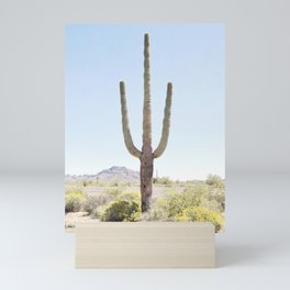 Lone Cactus Mini Art Print