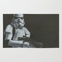 storm trooper Area & Throw Rugs featuring Storm Trooper by HCobbler