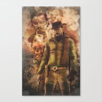 django Canvas Prints featuring Django by Cullenthecreator