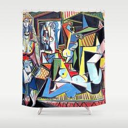 Pablo Picasso - Les Femmes d'Alger (Women of Algiers) 1955 Artwork Shower Curtain