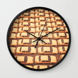 New York City Yellow Taxis Print -  NYC photography Wall Clock