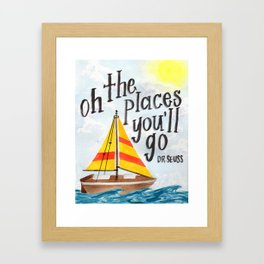 Oh the Places You'll Go - Dr. Seuss Framed Art Print
