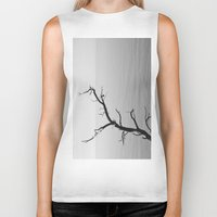 wood Biker Tanks featuring Wood by Laura James Cook