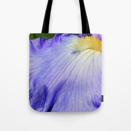 Blue Violet Iris Petal Close up Tote Bag