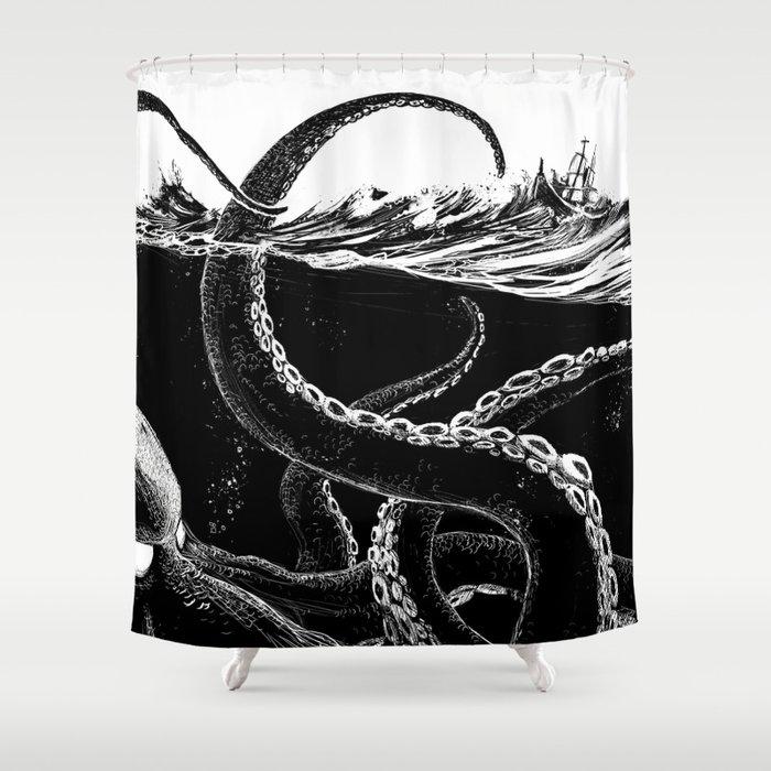 Kraken Rules The Sea Shower Curtain