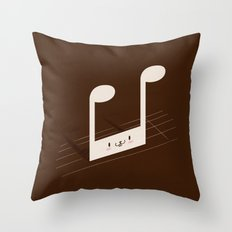Quaverabbit Throw Pillow