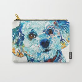 Small Dog Art - Who Me - Sharon Cummings Carry-All Pouch