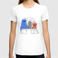 elmo T-shirts featuring Han Elmo and the Wookie Monster by NathanJoyce