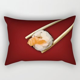 Sushi in red Rectangular Pillow