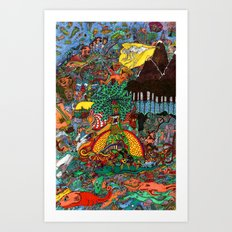 A Land Of Chaos Art Print