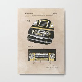 patent Selective stereo tape cartridge player Metal Print
