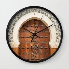 Doorway Number 30 - Fes, Morocco Wall Clock