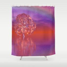 tree under rainbow -1- Shower Curtain