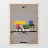 blur Canvas Prints featuring Blur by federico babina