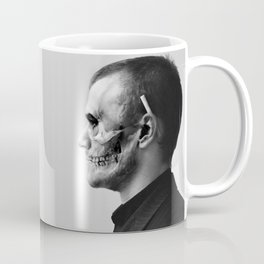 Skull Double Exposure Coffee Mug