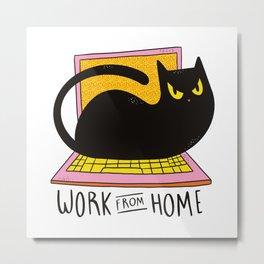 Home office Cat Best gift Metal Print