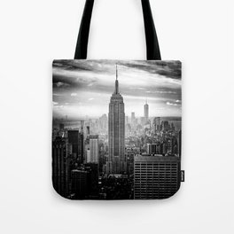 New york city black white 2 Tote Bag