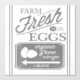 Farm Fresh Eggs Canvas Print