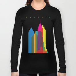 Shapes of Atlanta. Accurate to scale Long Sleeve T-shirt