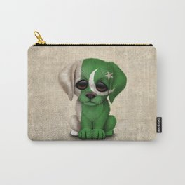 Cute Puppy Dog with flag of Pakistan Carry-All Pouch