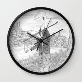 Tramp in search of identity Wall Clock