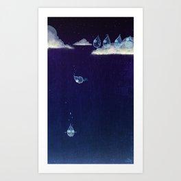 The Fall of Rain Art Print