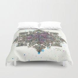 Zen Watercolor Mandala Full Duvet Cover