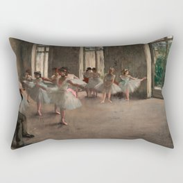 Classical Masterpiece 'The Ballet Rehearsal' by Edgar Degas Rectangular Pillow