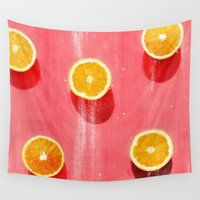 fruit Wall Tapestries featuring fruit 5 by LEEMO