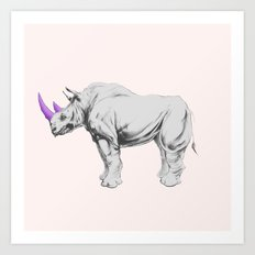 Party Animal - Rhino Art Print