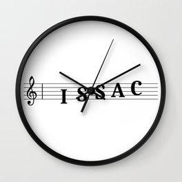 Name Issac Wall Clock