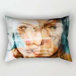 faces of Angelina Jolie Rectangular Pillow