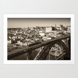 Porto sepia Art Print